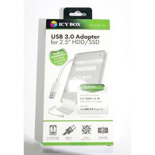 2,5-Zoll zu USB 3.0 Adapter in Gehäuse IB-AC603a-U3